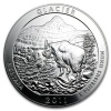 2011 Silver Glacier National Park Coin .999 Fine Silver 5 Oz