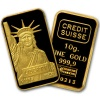 Credit Suisse 10 Gram Gold Bar .9999 Fine