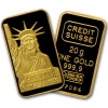 Credit Suisse 20 Gram Gold Bar .9999 Fine