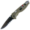 SOG Flash I Knife with Partially Serrated Blade STGFSA-97