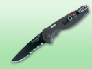 SOG Flash I Knife with Black Partially Serrated Blade TFSA-97