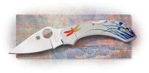 Spyderoc Dragonfly Tattoo Knife Model C28PT