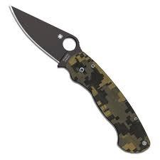 Para Military 2 Black Camo Knife C81GPCMOBK2