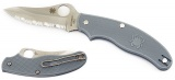 Spyderco UK Gray Pen Knife C94SGY33 Inch Drop Point