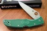 Spyderco ENDURA 4- ZOME GREEN HDL PL - C10ZFPGR