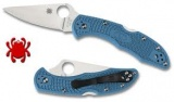 Spyderco DELICA FLAT GROUND PLAIN BLUE - C11FPBL