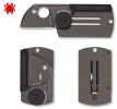 Spyderco DOG TAG FOLDER--BLACK TITANIUM HANDLE/BLACK BLADE/PLAIN EDGE - C188ALTIBBKP
