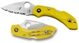 SPYDERCO C28SYL2 DRAGONFLY 2 SALT SER YELLOW FR