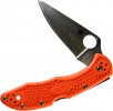 Spydreco C11FPOR Delica 4--Lightweight Orange Handle/Flat Ground/Plain Edge