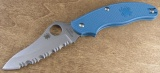 UK Blue serrated C94SBL3 3 Inch Drop Point GIN-1