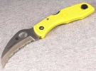 Spyderco Tasman Salt Yellow Knife C106SYL