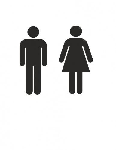 Restroom DecalMen women bathroomToilet signVinyl Sticker /& Wall Decals