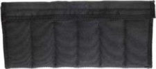 UC1449 Black Nylon Small Knife Pouch 6 Knives Fur Lined