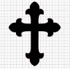 Cross Black Vinyl Decal 8x8