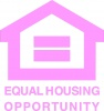 Equal Opportunity Fair Housing Vinyl Decal 8x8 Pink