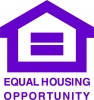 Equal Opportunity Fair Housing Vinyl Decal 8x8 Purple
