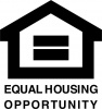 Equal Opportunity Fair Housing Vinyl Decal 8x8 Black