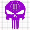 Punisher Three Percenter Purple Vinyl Decal 8x8