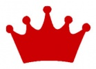 Princess Crown Red Vinyl Decal 6x6