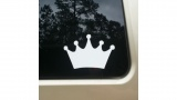 Princess Crown White Vinyl Decal 8x8