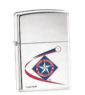 High Polished Chrome Texas Rangers Zippo #250MLB186
