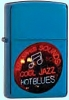 Zippo Jazz Blues Sapphire Powder Coated 21094