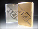 Zippo brushed chrome buckle up lighter (200BSB245)