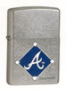 Zippo Atlanta Braves 2027MBL171 Satin Chrome Lighter