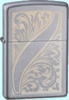 Zippo Scrolled Feather Lighter Z21139 Lifetime Warranty