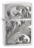 Zippo flowers of fancy brushed chrome lighter 24181