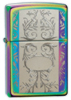 Zippo engraved filigree spectrum lighter (24203)