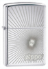 Zippo Starburst 24208 High Polish Chrome Windproof Lid