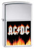 Zippo AC/DC flames brushed chrome lighter (24277)