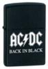 Zippo AC/DC Back in Black 24279 Matte Black Lighter