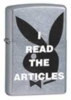 Zippo Playboy I Read the Articles Bunny Girl Lighter