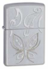 Zippo Golden Butterfly 24339 Lighter Satin Chrome