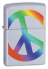 Zippo 205 Peace Symbol Satin Chrome Lighter (24475)