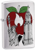 Zippo BS New York Apple Brushed Chrome Lighter (Model 24519)
