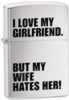 I Love My Girlfriend� Zippo lighter (model Z24522)