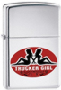 Zippo 250 Trucker Girl Shine Chrome Lighter (24524)