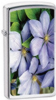 24525 Purple Petals Slim Lighter Polished Chrome