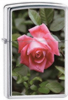 Zippo 250 Rose High Polished Chrome Lighter 24527