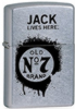 Jack Daniels Jack Lives Here Street Chrome Lighter
