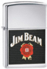 Zippo Jim Beam chrome high polish lighter (24552)