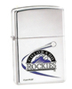 High Polished Chrome Colorado Rockies Zippo #250MLB180