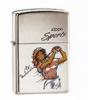 High Polished Chrome Womens Golf Zippo #250WGLF