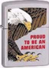 Brushed Chrome Proud to be an American Zippo #630