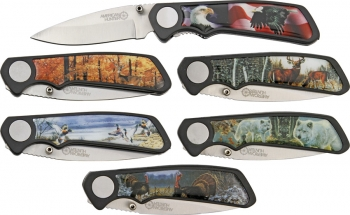 American Hunter Wildlife 6 Pc Pocket Knife Set BRK-AH500
