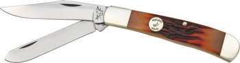 Bear and Son Trapper Red Stag Bone knives BCCRSB54