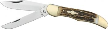 German Bull Folding Hunter Deer Stag knives GB069DS